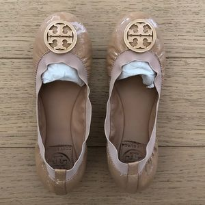 TORY BURCH Caroline Camellia Pink Ballet Flats